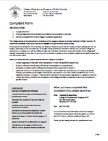 File a complaint college of physicians and surgeons of british complaint form spiritdancerdesigns Image collections